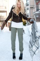 aviator jacket Zara jacket - H&M Bag bag - minimarket wedges - Zara t-shirt - H&
