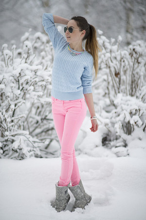 bubble gum neon pink GINA TRICOT pants