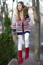 GINA TRICOT cardigan - SoWhat boots