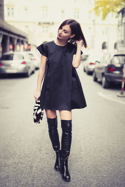 Zara-boots-nubu-dress