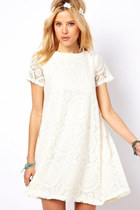 Boho chic Summer white lace loose dress