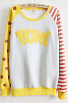 *free ship* harajuku kawaii printed sweatshirt - yellow - SV006096