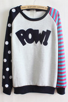 *free ship* harajuku kawaii printed sweatshirt - purple - SV006096