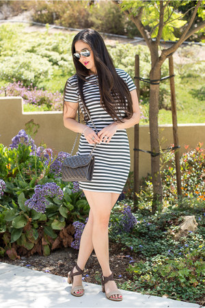 bodycon TJ Maxx dress - TJ Maxx sandals