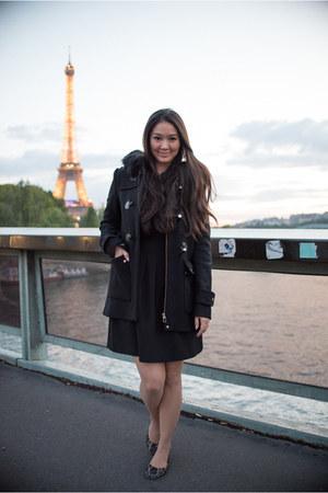 Zara coat - H&M dress - Tieks flats - Amy O Bridal earrings