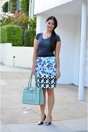 gray t-shirt Zappos shirt - aquamarine tote Outrage Fashion bag