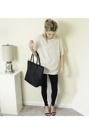 vintage top - H&M bag - ankle strap vintage heels