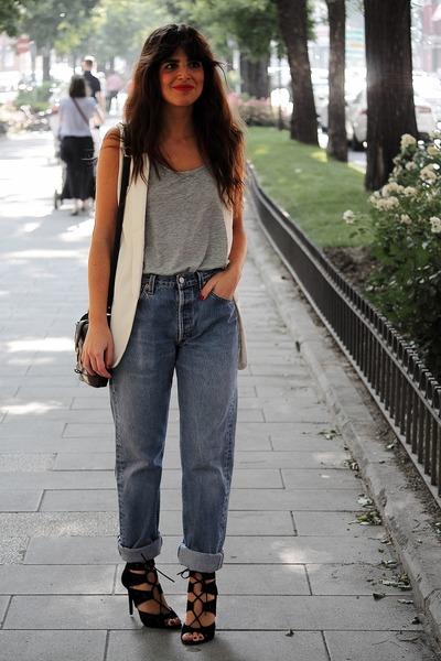 Zara sandals - Levis jeans - Urban Outfitters bag - asos top - Zara vest