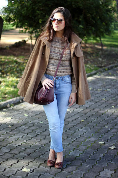 Urban Outfitters bag - pull&bear jeans - Zara jumper - Topshop loafers