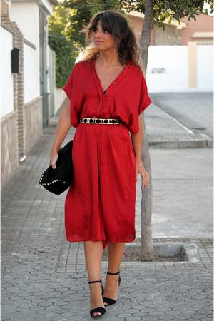 Zara dress - Zara bag - Zara heels - Zara belt