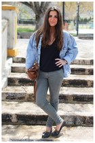Levis jacket - Urban Outfitters bag - Zara pants - Massimo Dutti jumper