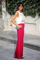 Mango bag - Zara pants - pull&bear t-shirt