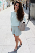 Zara bag - Springfield shoes - Zara shorts - H&M jumper