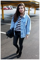 Levis jacket - Zara boots - Zara leggings - Zara bag - H&M jumper
