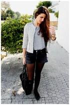 Zara jacket - Zara bag - Levis shorts - Zara t-shirt - Zara flats