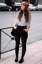 Zara hat - H&M shorts - H&M t-shirt - Zara flats