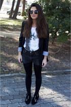 Bimba&Lola boots - Zara blazer - Levis shorts - asos sunglasses