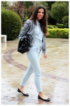 Zara shoes - H&M jeans - Zara jacket - BLANCO shirt - Zara bag