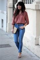 Zara shirt - Primark jeans - Oysho bag - Zara heels