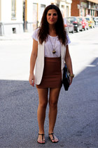 Zara vest - Dayaday bag - Dayaday necklace - H&M skirt - Zara t-shirt