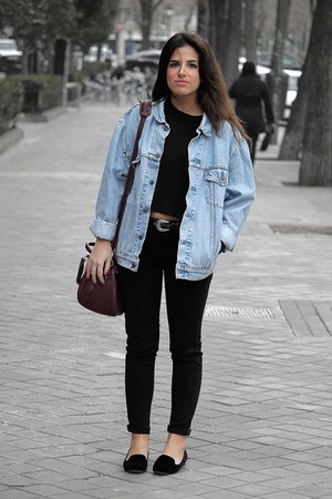 Levis jacket - Urban Outfitters bag - Zara pants - &amp; other stories jumper