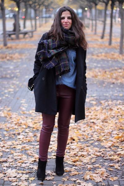 Zara scarf - Zara boots - Mango coat - H&M shirt - Zara bag - H&M pants