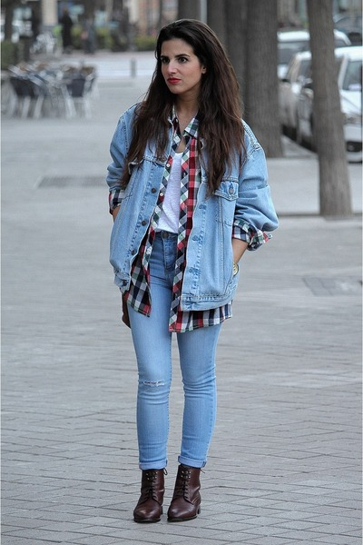 Zara t-shirt - Massimo Dutti boots - pul&bear jeans - Levis jacket - H&M shirt