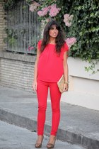 Zara pants - Oysho bag - Sfera top - Zara heels