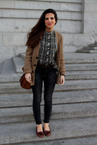 Zara shirt - pull&bear jeans - Urban Outfitters bag - Zara cardigan