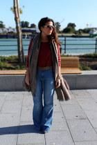 Massimo Dutti jeans - Zara scarf - Zara sunglasses - H&M jumper