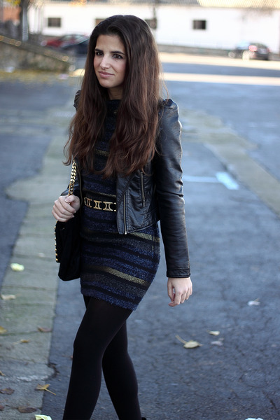 H&M jacket - Zara dress - Zara belt