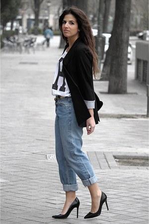 Zara blazer - Levis jeans - Zara bag - pull&bear t-shirt