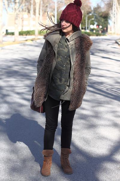 Zara hat - pull&bear boots - Zara shirt - Primark pants