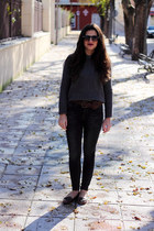 Zara jumper - pull&amp;bear jeans - Zara sunglasses - Topshop loafers
