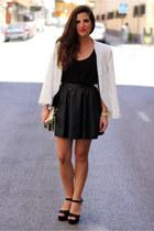 Mango blazer - Mango bag - H&M skirt - Parfois heels - H&M t-shirt