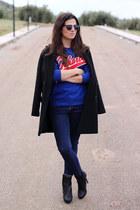 Mango coat - Zara jeans - Carhartt sweater