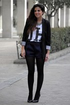 Zara blazer - & other stories shorts - Zara heels - pull&bear t-shirt