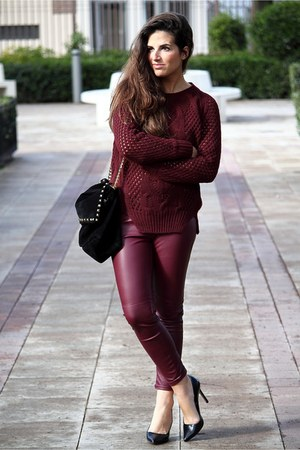 Zara bag - H&amp;M pants - Massimo Dutti jumper - Zara heels