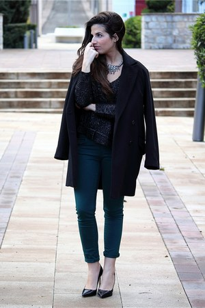 Zara jumper - Mango coat - Massimo Dutti pants - Zara heels