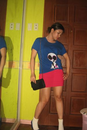 blue Marc by Marc Jacobs t-shirt - pink Topshop skirt - white Marks and Spencers