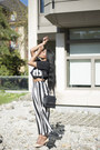 Dark-gray-purse-topshop-bag-white-striped-forever21-skirt