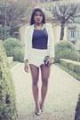 White-mango-blazer-dark-gray-zooshoocom-bag-off-white-romwe-shorts