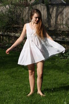 white cotton The Dress Shop dress - silver hark jewelry The Dress Shop necklace
