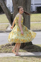 yellow vintage 1950s Wallflower Vintage dress