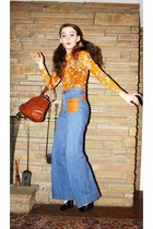 navy Wallflower Vintage jeans - carrot orange vintage lace Wallflower Vintage sh