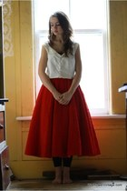 ruby red Wallflower Vintage skirt - white Wallflower Vintage blouse