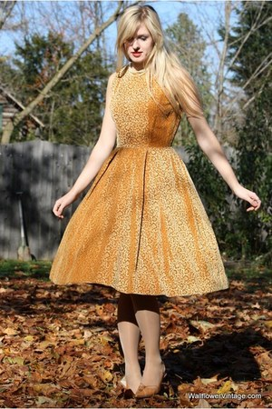 gold Wallflower Vintage dress