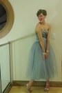 Light-blue-wallflower-vintage-dress-silver-the-dress-shop-earrings