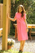 bubble gum pink 1960s Wallflower Vintage dress