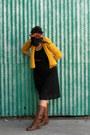 Brown-vegan-gabrielle-rocha-boots-black-sheer-black-thrifted-dress